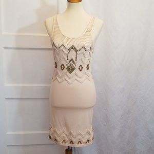 Free People Beaded Bodycon Dress, Size S